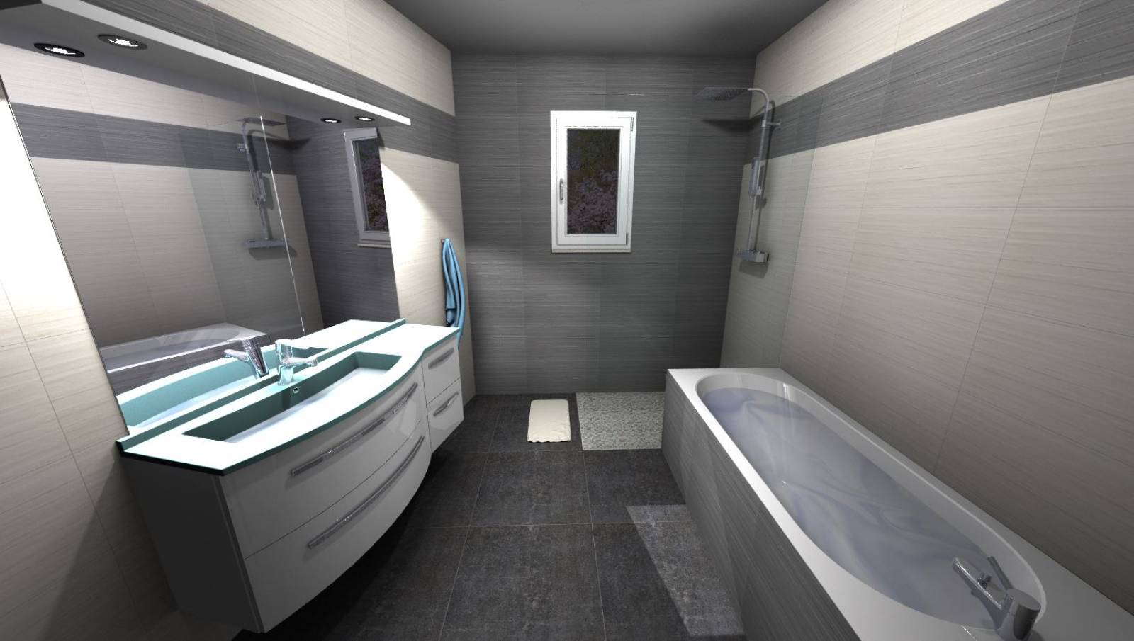 conception de salle de bain cl en main libourne vente et pose de carrelage salle de bain. Black Bedroom Furniture Sets. Home Design Ideas